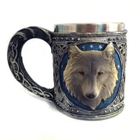 Stainless Steel Wolf Mug 450ml - Norse Blood