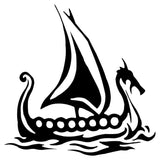 Viking Ship Vinyl Decal Sticker - Norse Blood