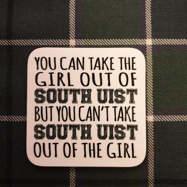South Uist Girl Coaster