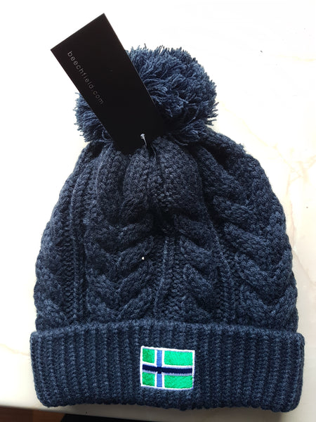 French Navy knit beanie