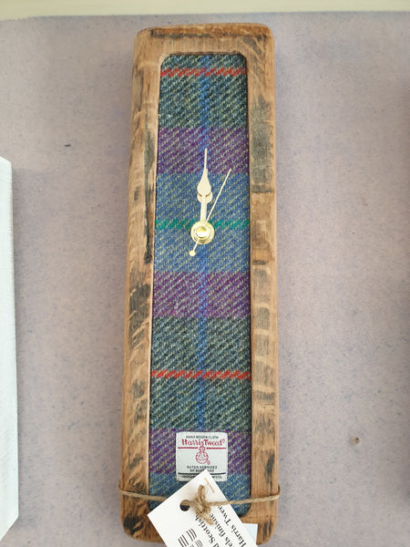 Harris tweed beer barrel clock