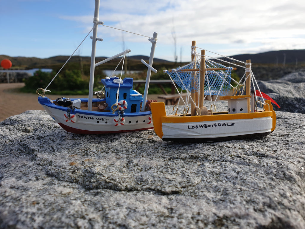 Fishing boats with South Uist