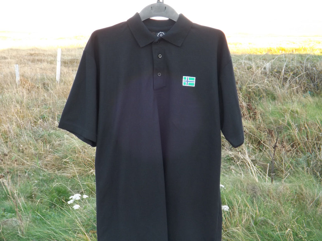 South Uist Mens Polo Shirt (M) Black