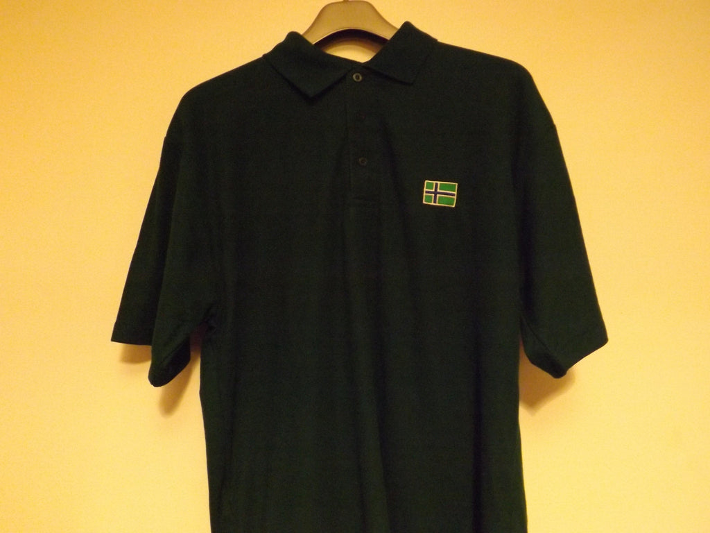 South Uist Mens Polo Shirt (L) Bottle Green