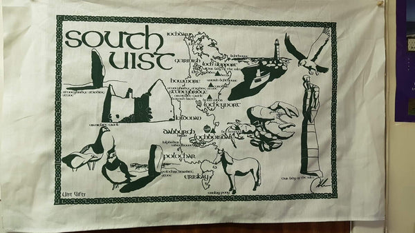 Green South Uist Tea Towel
