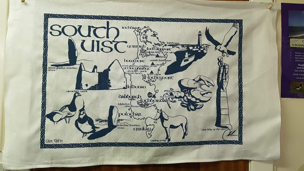 Blue South Uist Tea towel