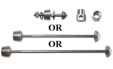 Single Pitlock Skewer with keys (front, rear, or seatpost)