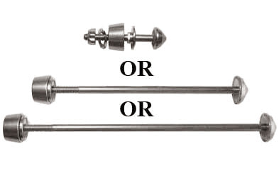 Single Pitlock Skewer No Keys (front, rear, or seatpost)