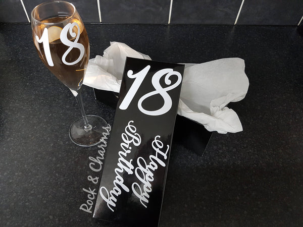 18th Birthday Wine Prosecco Champagne Flute Glass