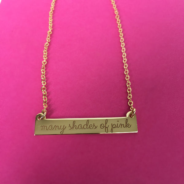 Not ALL breast cancer is the same. There are many shades of PINK. necklace