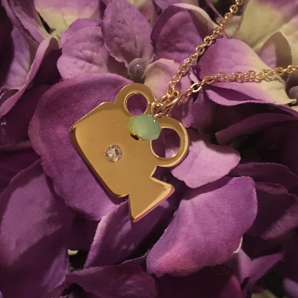 Gold Vintage Video Player Necklace