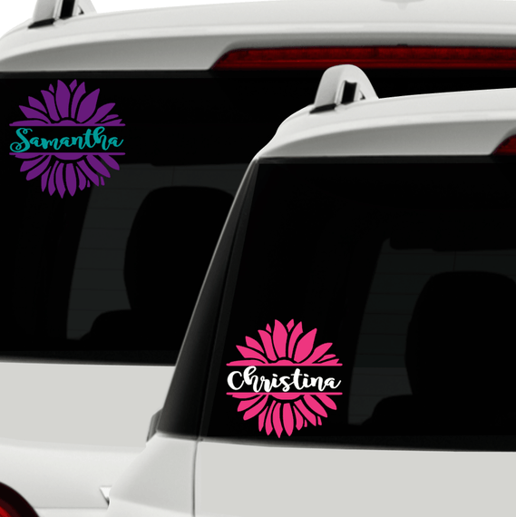Flower car decals girly flower car decal