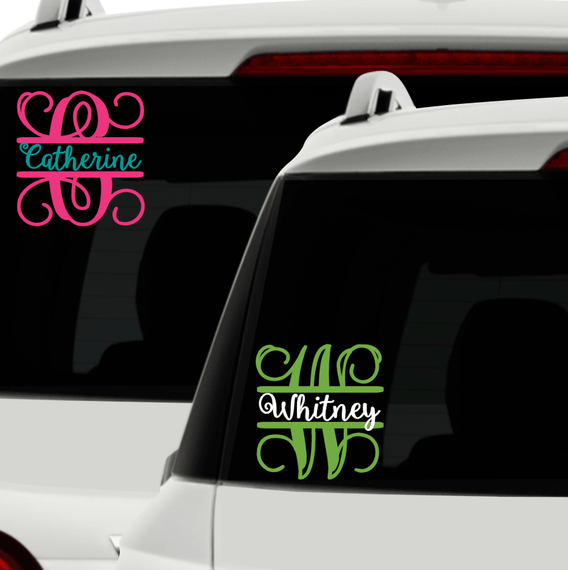 Name decal for car cursive personalized car decal