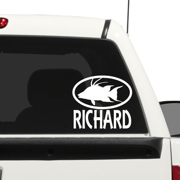 Fish car decal