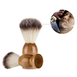 Men Shaving Bear Brush Hair Shave Wood