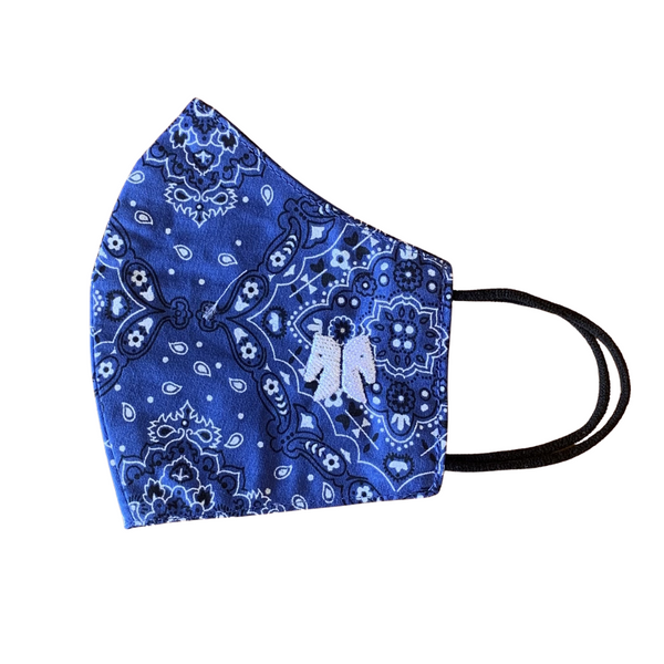 Máscara | bandana azul royal