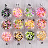 1 Box Laser Mixed Colorful Nail Sequins Tips Round Shape Nail Glitter Tips