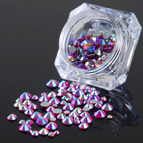 1 Pack Red Resin Studs 3D Nail Decoration 2mm/2.5mm/3mm/4mm/5mm