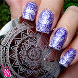 1 Pc Born Pretty Full Flower Design Nail Art Stamp Stamping Template Image