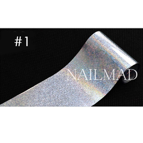 1 roll 4*100CM Holographic Nail Foils Laser Holo Dots  Nail Art Transfer Foil