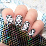 1 roll 4*100CM Holographic Nail FoilsTriangle Patterns Foils Nail Art Transfer
