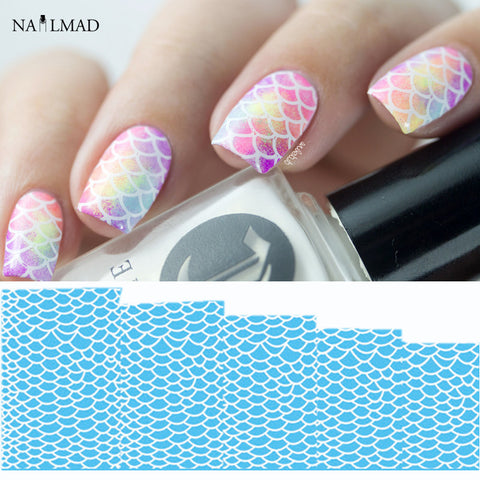 Nail art nuovosquare 1 sheet fish scale nail water decals scale transfer decals flowers nail art prinsesfo Choice Image