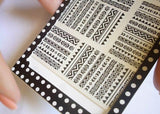 1 sheet Tribal Geo Pattern Nail Art Water Decals Nail Stickers Accessories