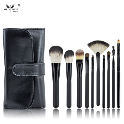 Black Make Up Brushes Professional Makeup Brushes With Black Bag