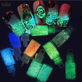 10 x Noctilucent Resin 3d Stones Nail Art Rhinestones Luminous Crystals