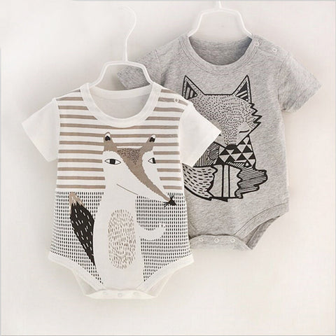 Baby Rompers Print Newborn Infant Clothing