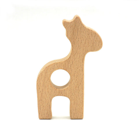 10pcs x 80mm unfinished beech giraffe  wooden teethers