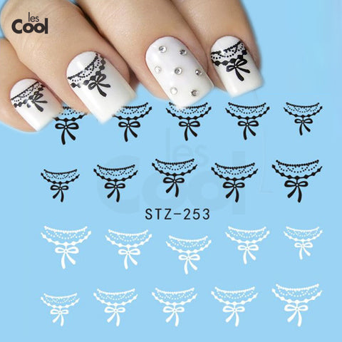 1Sheet Sexy Lace Nail Art Decals Water Transfer Designs Nail Stickers