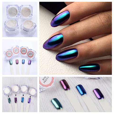 1g/bottle Shining Mirror Effect Nail Polish Glitter Powder Gorgeous Nail Art =