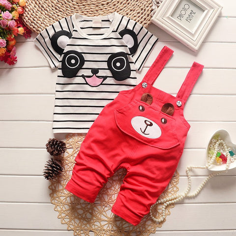 baby boys clothing sets cartoon 2pcs panda clothes sets boys summer set