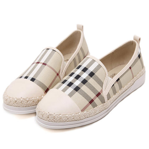 Breathable Slip On Flats Fashion Casual Woman Platform