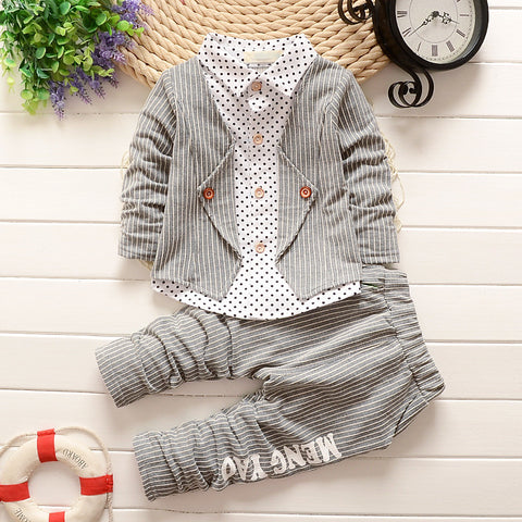 Baby Infant Tracksuit set Kids Gentleman Stripe Outfits