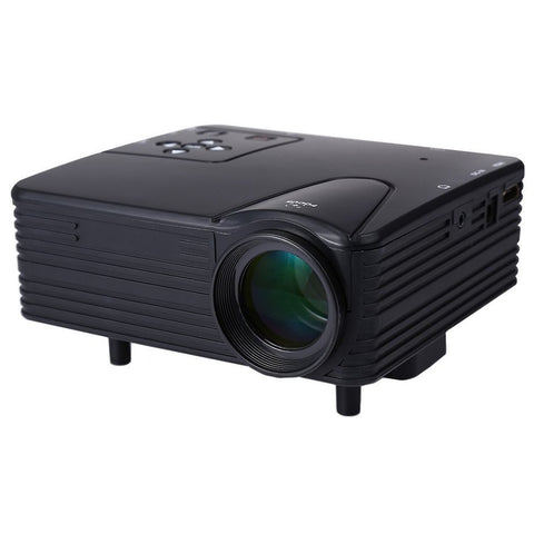 Full HD Home Theater Cinema H80 LCD Image System 80 Lumens Mini LED Projector with AV/VGA/SD/USB/HDMI for DVD PC