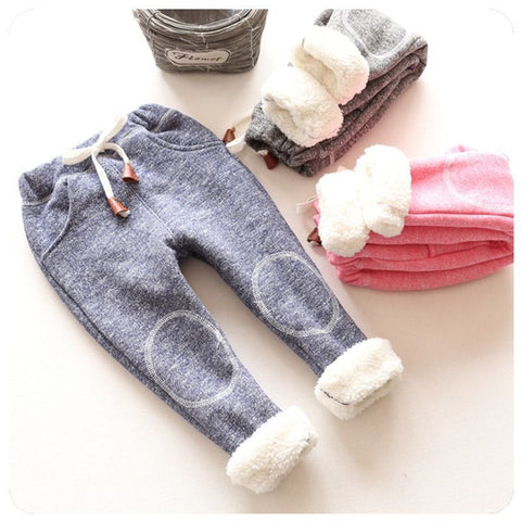 Pants Elastic Solid Casual Kids Trousers