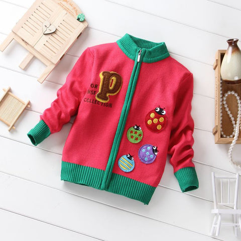 Boys knitted cardigan sweater