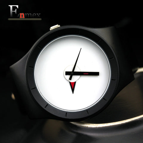 design brief face with a red pointer leather band water prof