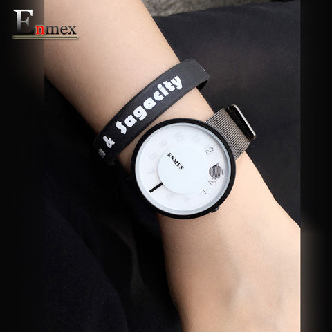 cross out the time special design two hands fashion brief  casual  quartz  watch