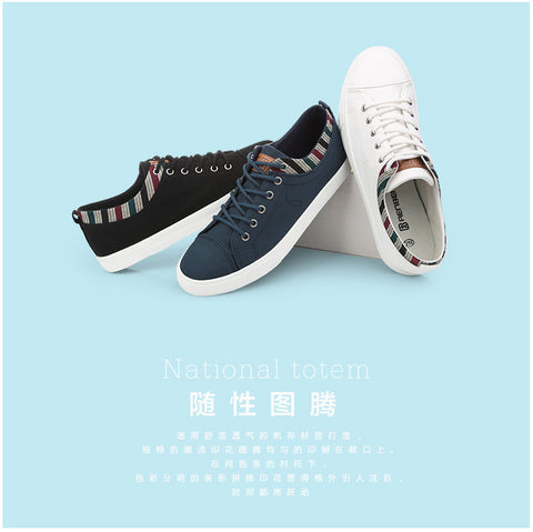 canvas shoes men breathable Fashion patchwork