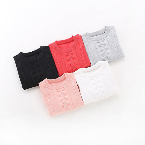 girls' sweaters cotton