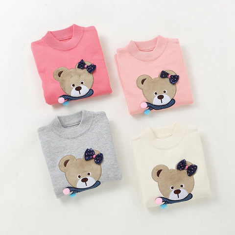 Bear sweaters girls' fashion cotton sweaters