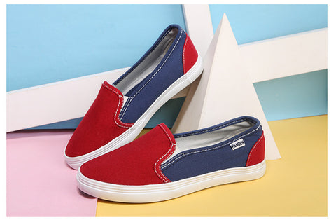fashion women shoes candy color canvas shoes  woman flats loafers