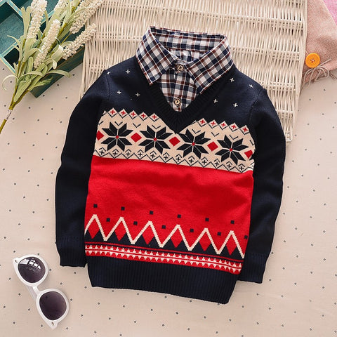 children Knitting Shirt coat kid boy thin  jackets