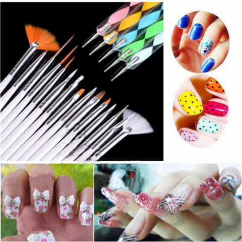 20X Nail Art Design Painting Dotting Pen Brushes Bundle Tool Kit Set