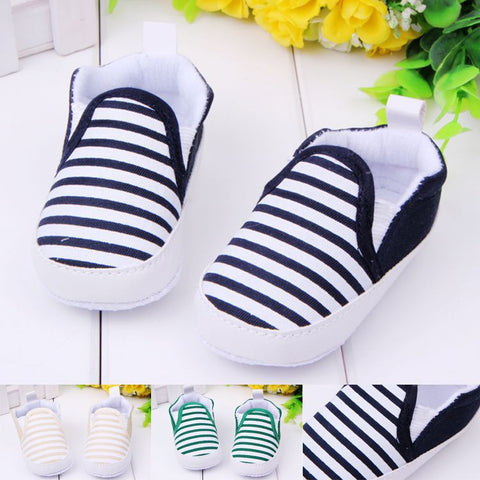 Baby Boys Stripes Anti-Slip Sneakers