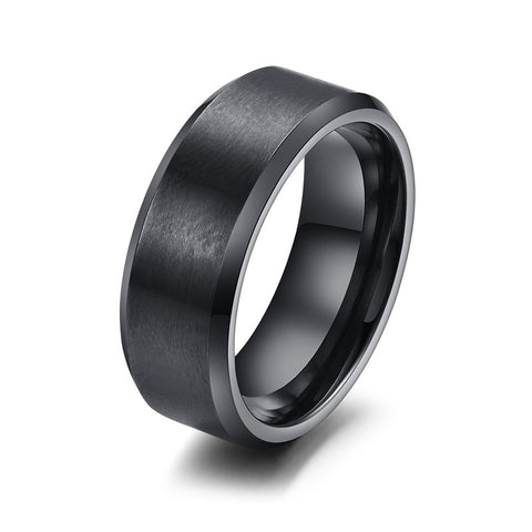 316L stainless steel men ring wedding wholesale black & silver & gold plated usa size