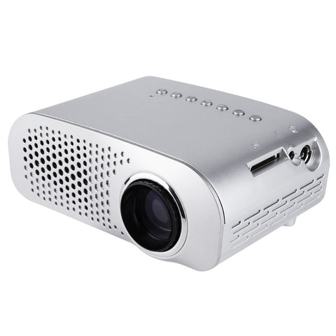 38W Portable Mini Projector GP802A  1080P HD Home Theater ,Multimedia Projector AV USB VGA SD  Ports White EU US UK